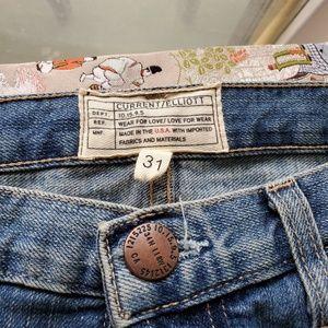 Current/Elliott floral jeans